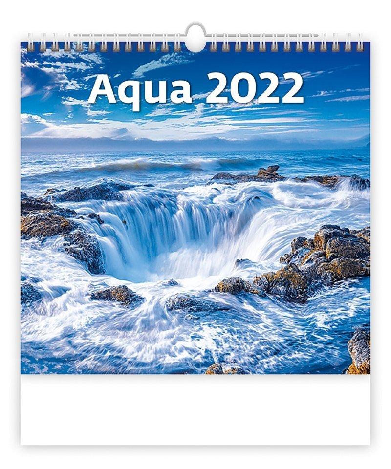 Kalendarz ścienny wieloplanszowy Aqua 2022 - okładka