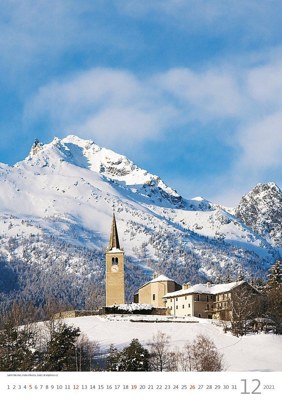 Kalendarz ścienny wieloplanszowy Alps 2021 - grudzień 2021
