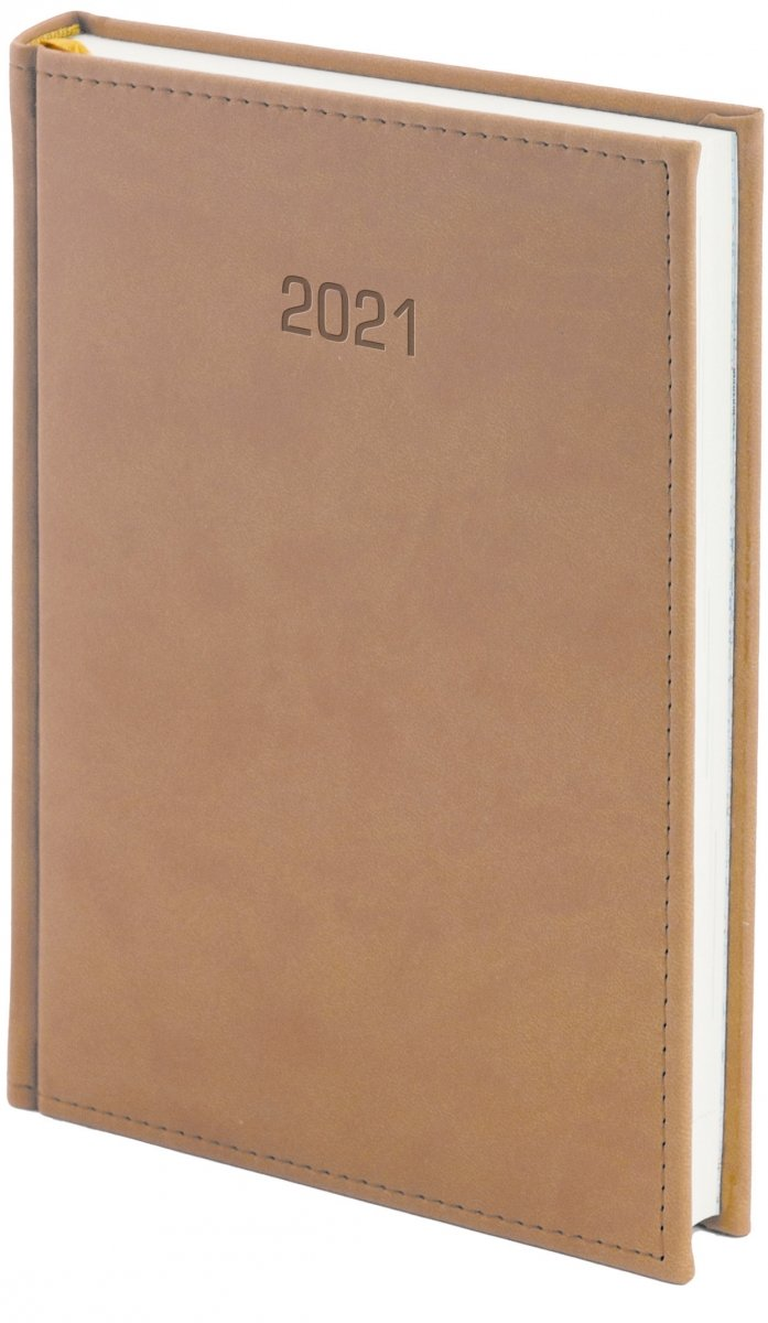 Kalendarz książkowy 2021 A4 dzienny oprawa VIVELLA EXCLUSIVE - beżowa