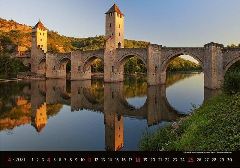Kalendarz ścienny wieloplanszowy Bridges 2021 - kwiecień 2021