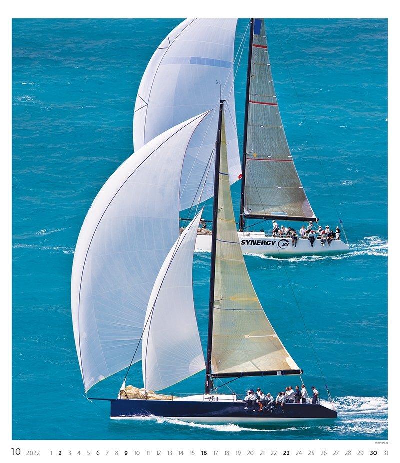 Kalendarz ścienny wieloplanszowy Sailing 2022 - exclusive edition - październik 2022