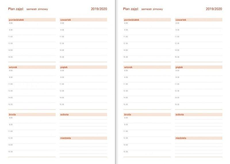Kalendarz akademicki - Plan zajęć na semestr zimowy 2019/2020