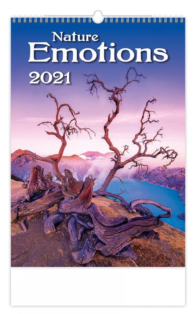 Kalendarz ścienny wieloplanszowy Nature Emotions 2021 - okładka
