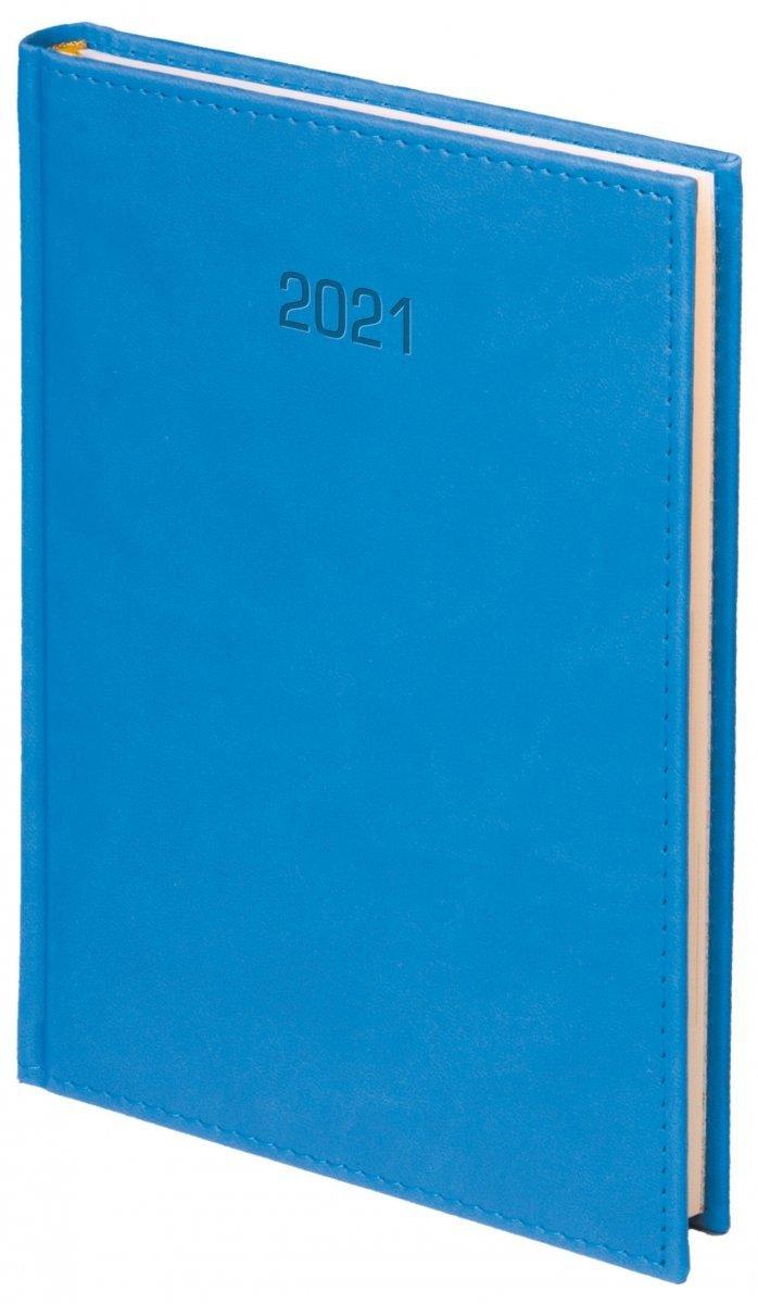 Kalendarz książkowy 2021 A4 dzienny oprawa VIVELLA EXCLUSIVE - niebieska