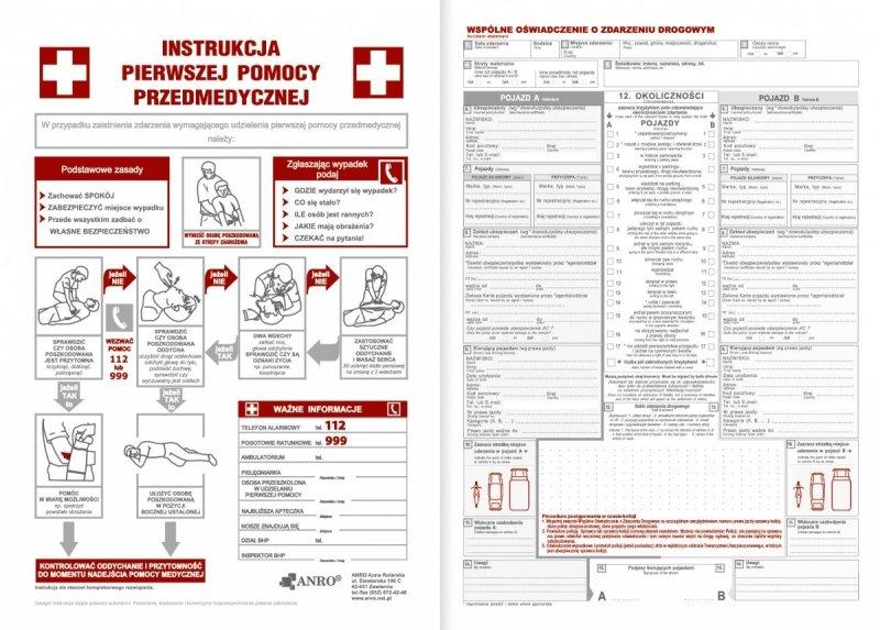 Kalendarz nauczyciela na rok szkolny 2021/2022 wspólne oświadczenie o zdarzeniu drogowym, instrukcja pierwszej pomocy