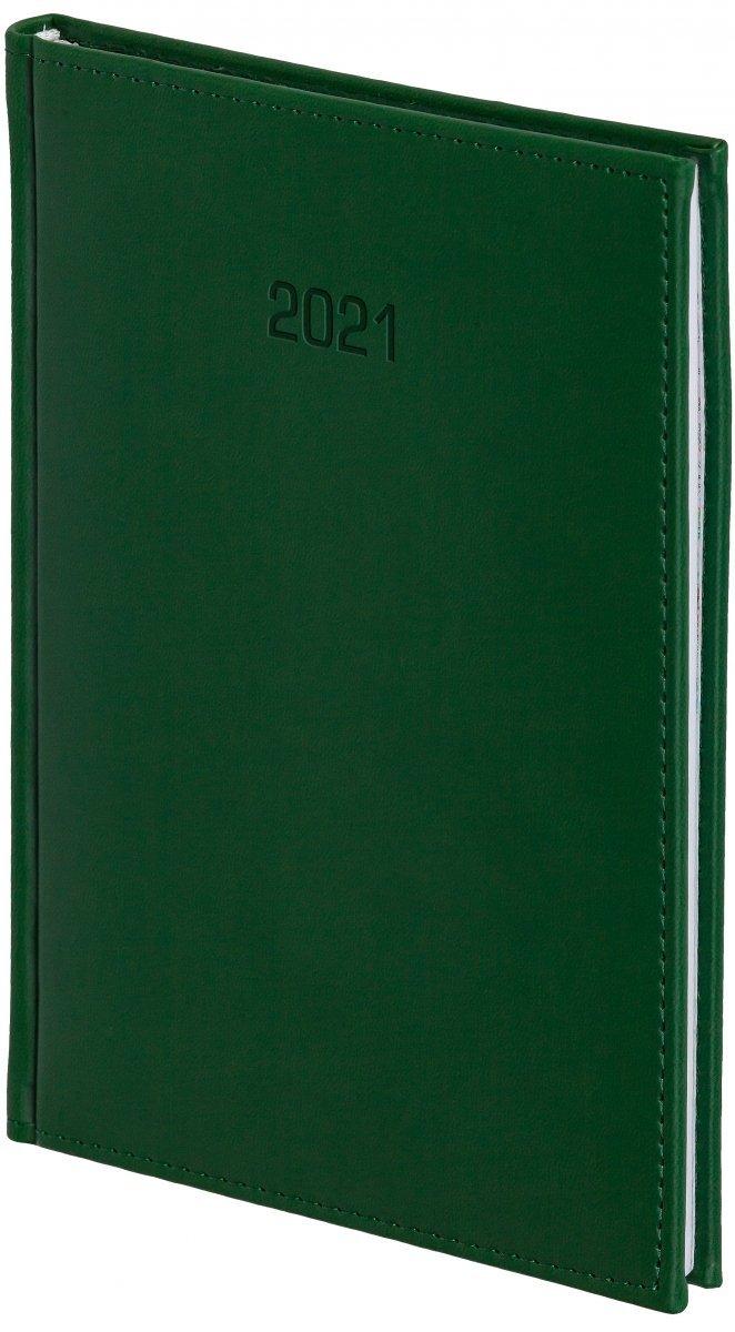 Kalendarz książkowy 2021 B5 tygodniowy oprawa VIVELLA EXCLUSIVE zielona