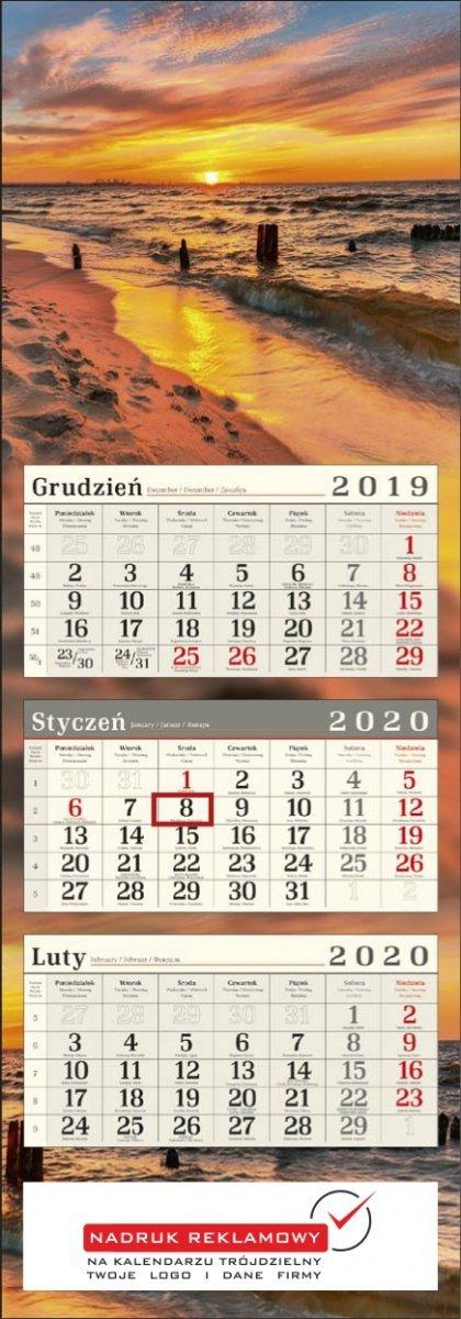Nadruk reklamowy na kalendarzu trójdzielnym POSTER