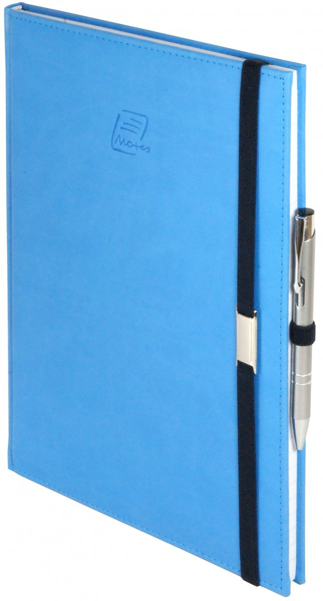 Oprawa notesu Vivella w kolorze niebieskim