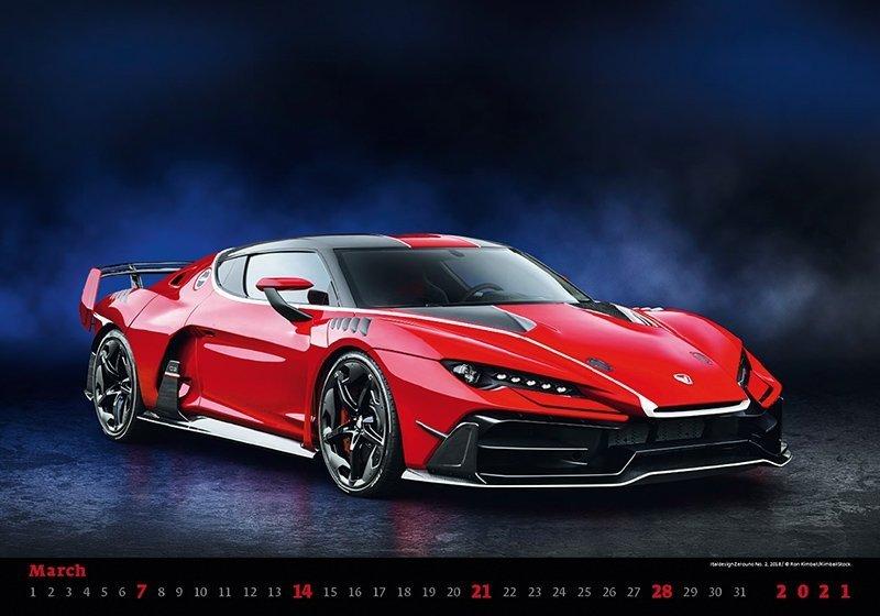 Kalendarz ścienny wieloplanszowy Cars 2021 - marzec 2021