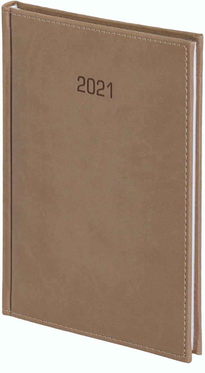 Kalendarz książkowy 2021 B5 tygodniowy Z NOTESEM  oprawa VIVELLA beżowa