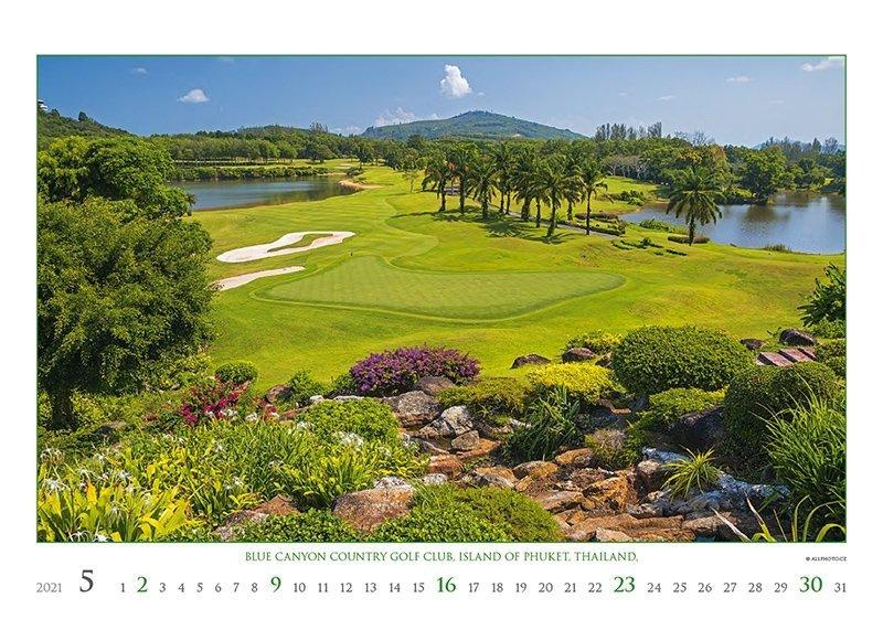 Kalendarz ścienny wieloplanszowy Golf 2021 - exclusive edition - maj 2021