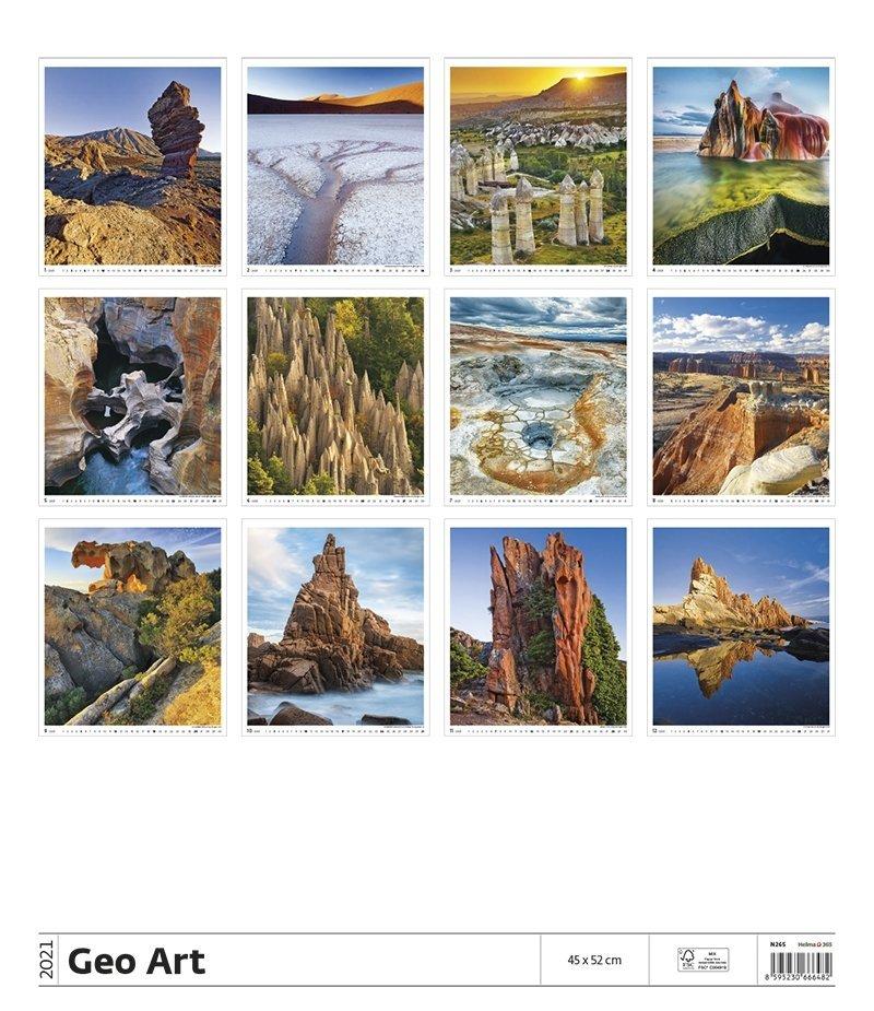 Kalendarz ścienny wieloplanszowy Geo Art 2021 - exclusive edition - tylna okładka
