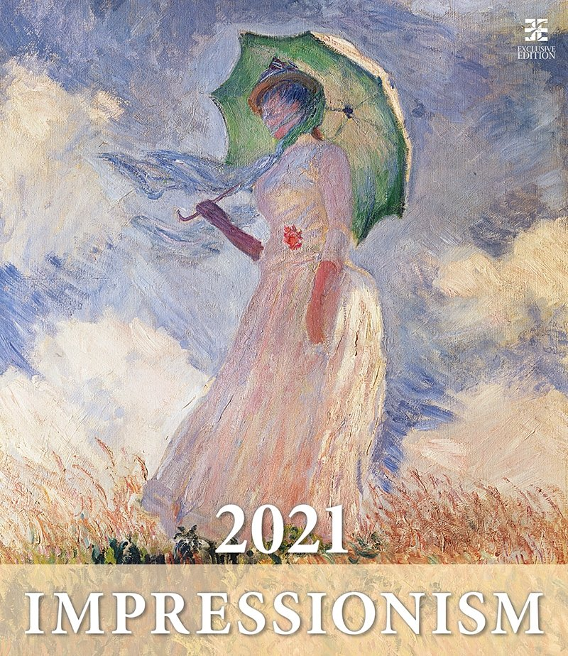Kalendarz ścienny wieloplanszowy Impressionism 2021 - exclusive edition - okładka