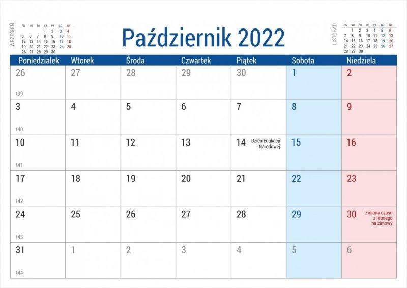 Kalendarz biurkowy stojący na podstawce PLANO 2022 zielony