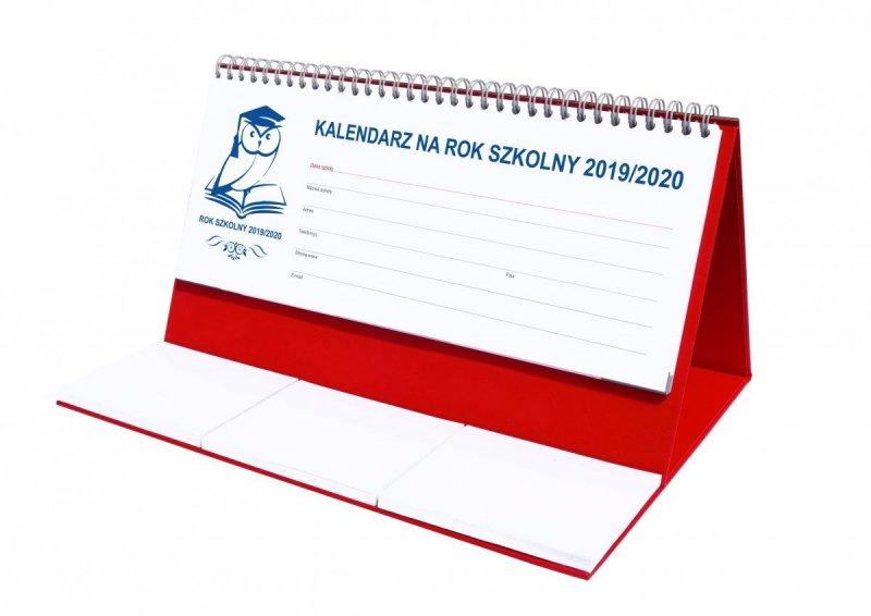 Kalendarz biurkowy EXCLUSIVE na rok szkolny 2019/2020 - czerwony