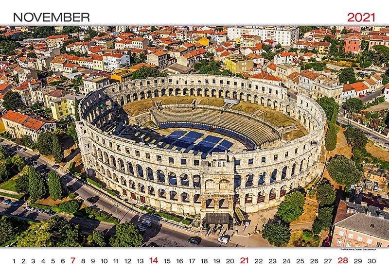Kalendarz ścienny wieloplanszowy World Wonders 2021 - listopad 2021