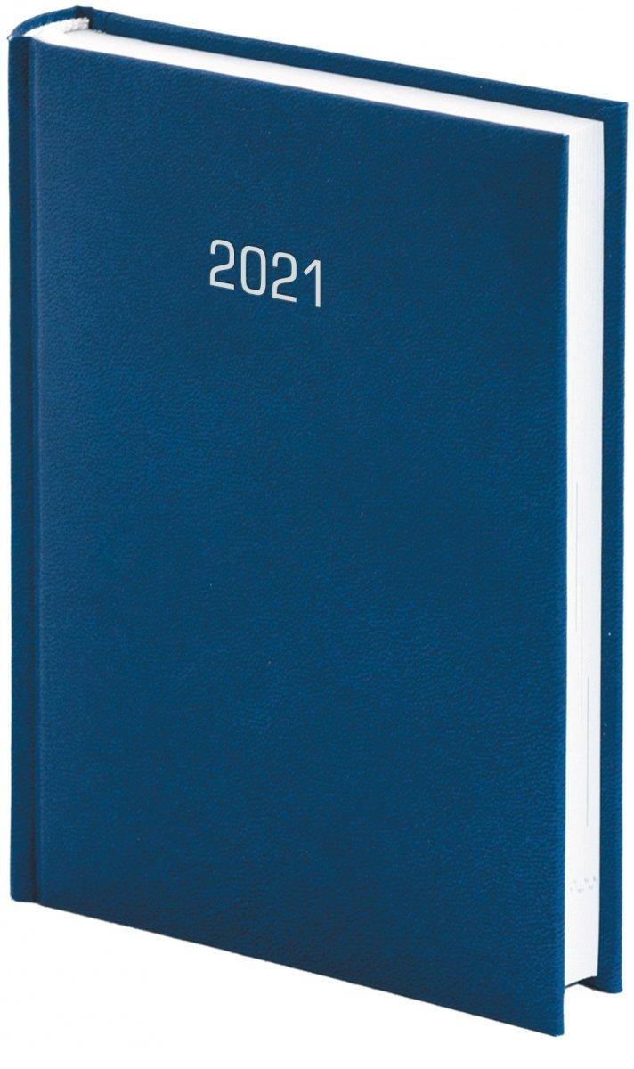 Kalendarz książkowy 2021 A5 dzienny oprawa ALBIT oprawa introligatorska granatowa