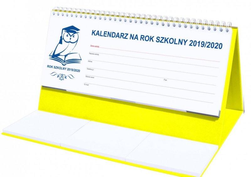 Kalendarz biurkowy EXCLUSIVE na rok szkolny 2019/2020 - żółty