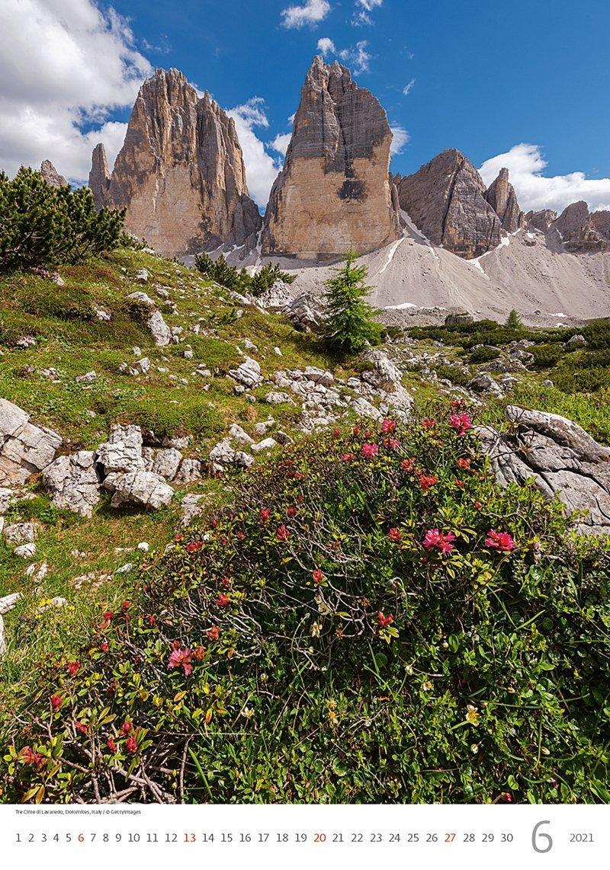 Kalendarz ścienny wieloplanszowy Alps 2021 - czerwiec 2021