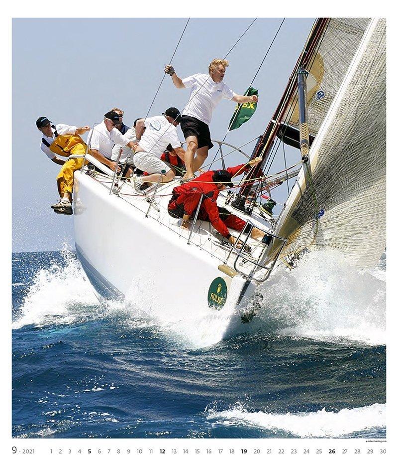 Kalendarz ścienny wieloplanszowy Sailing 2021 - exclusive edition - wrzesień 2021