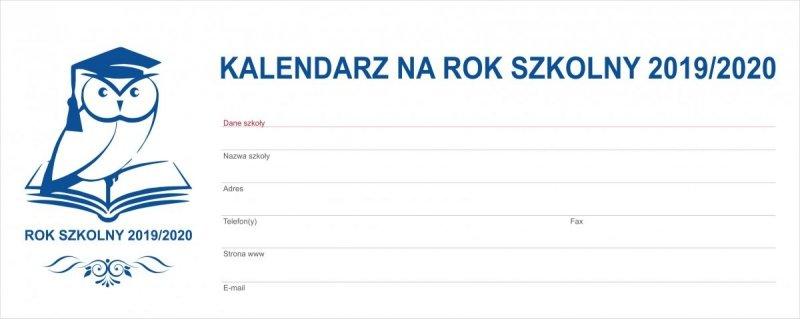 Kalendarz biurkowy EXCLUSIVE PLUS na rok szkolny 2019/2020 - strona tytułowa