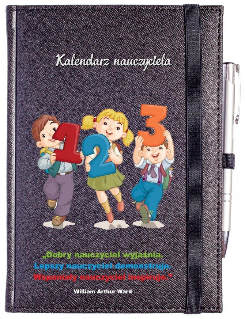 nadruk dla nauczyciela na okładce kalendarza