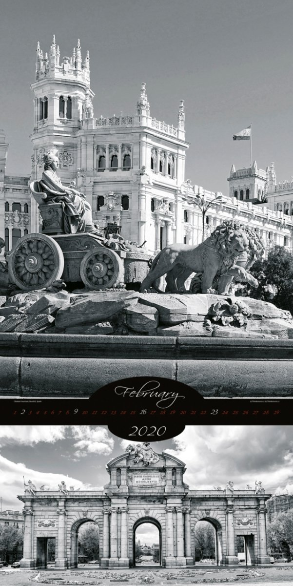 Kalendarz ścienny wieloplanszowy All About Cities 2020 - exclusive edition - luty 2020