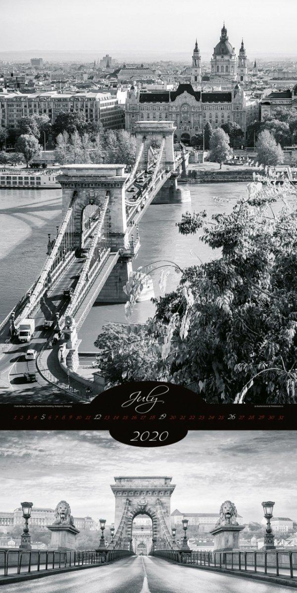 Kalendarz ścienny wieloplanszowy All About Cities 2020 - exclusive edition - lipiec 2020
