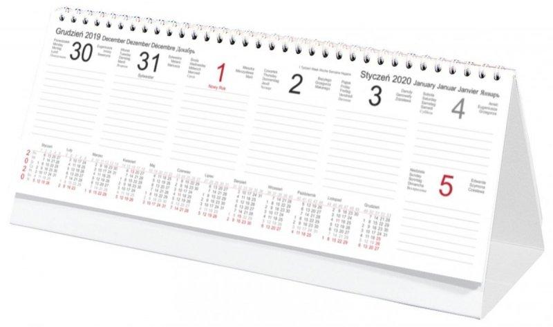 Kalendarz biurkowy stojący POZIOMY TYGODNIOWY 2020