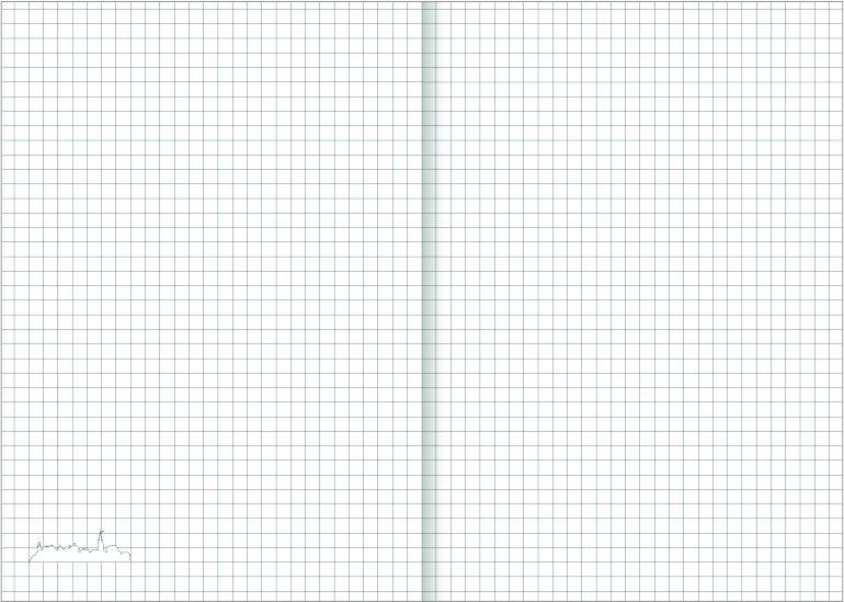 Notes A4 papier biały w kratkę - przykładowa kartka z notatnika