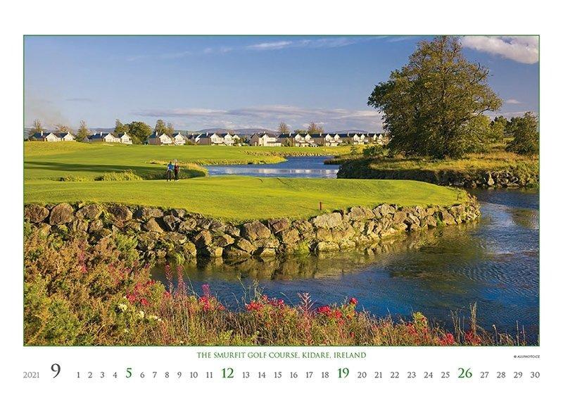 Kalendarz ścienny wieloplanszowy Golf 2021 - exclusive edition - wrzesień 2021