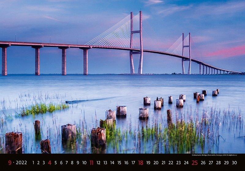 Kalendarz ścienny wieloplanszowy Bridges 2022 - wrzesień 2022