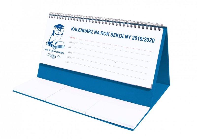 Kalendarz biurkowy EXCLUSIVE na rok szkolny 2019/2020 - niebieski
