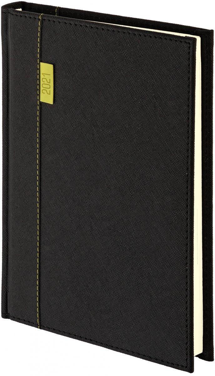 Kalendarz książkowy 2021 A4 dzienny oprawa Vegas czarna
