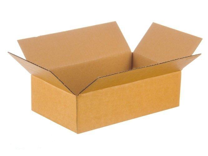 Karton klapowy o wym. 640x380x80 mm 3-warstwowy fala B  390g InPost rozmiar A 50 SZTUK