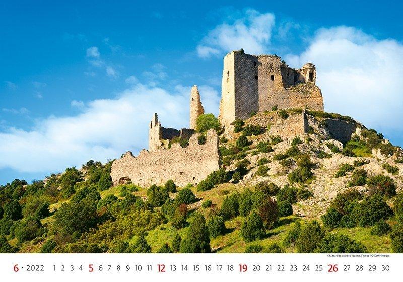 Kalendarz ścienny wieloplanszowy Romantic Castles 2022 - czerwiec 2022
