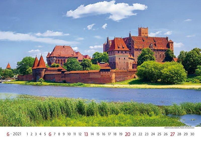 Kalendarz ścienny wieloplanszowy World Heritage 2021 - czerwiec 2021