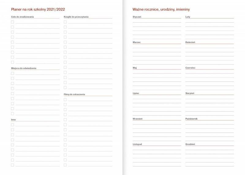 Kalendarz nauczyciela na rok szkolny 2021/2022 planer