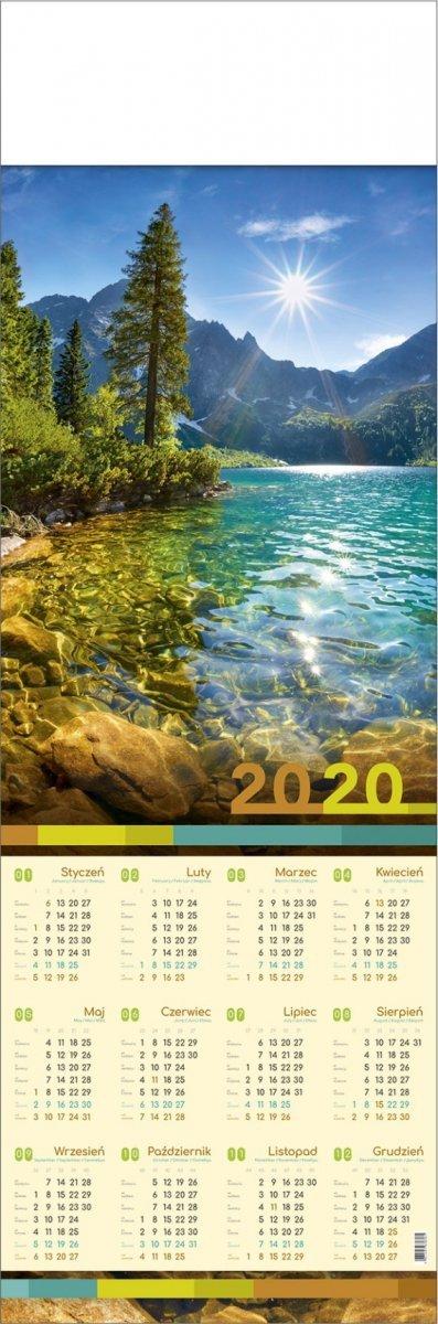 Kalendarz plakatowy 1/2 B1 32 x 97 cm z miejscem na nadruk reklamowy
