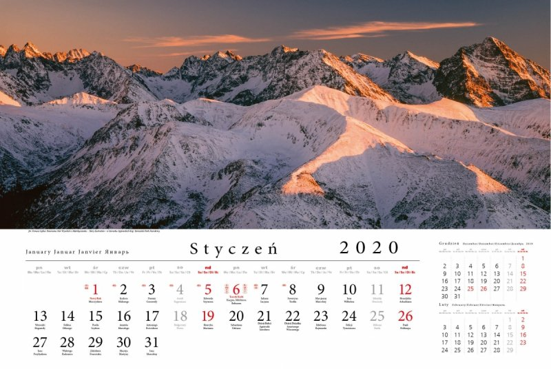 Tatry w panoramie 2020 - styczeń 2020