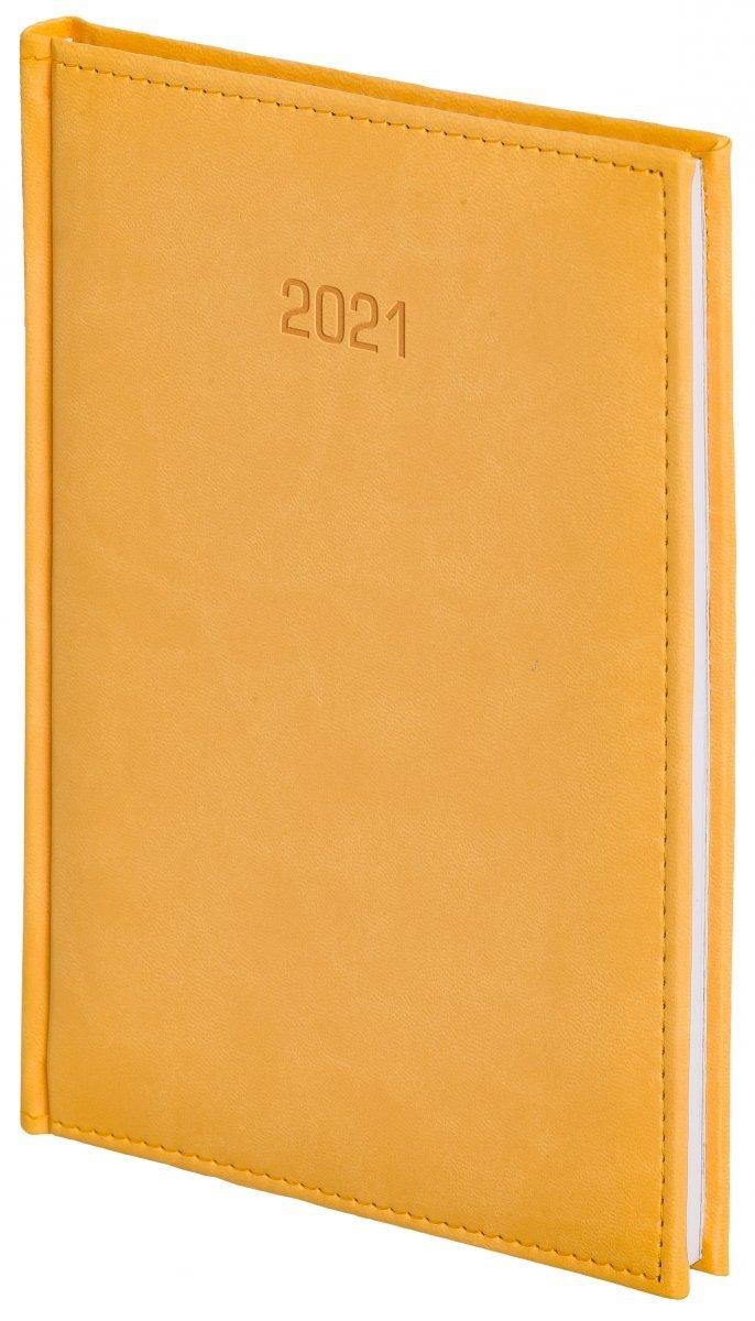 Kalendarz książkowy 2021 B5 tygodniowy oprawa VIVELLA EXCLUSIVE żółta