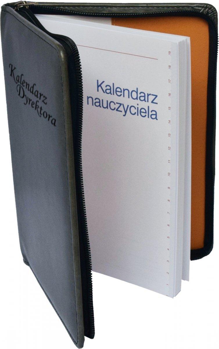 Kalendarz dyrektora oprawa ZIP w kolorze szarym - środek