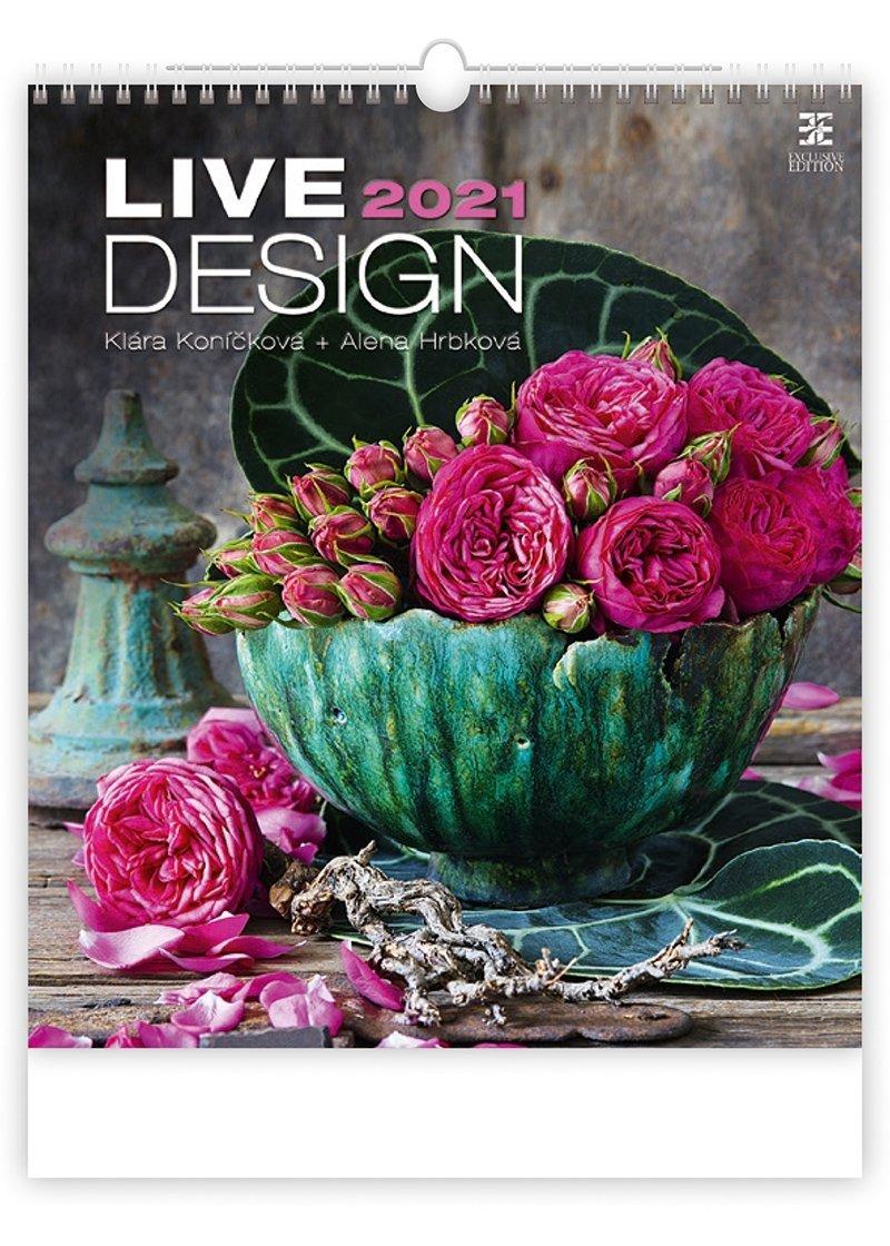Kalendarz ścienny wieloplanszowy Live Design 2021 - exclusive edition - okładka
