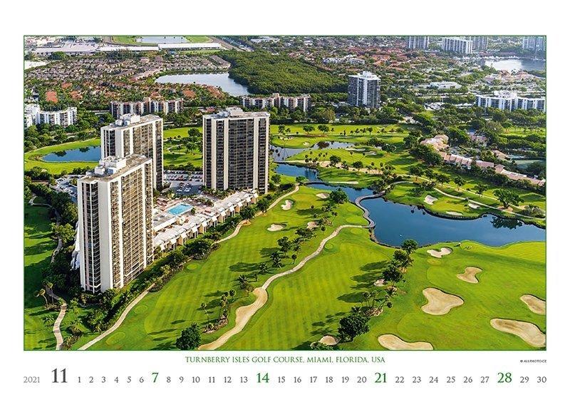Kalendarz ścienny wieloplanszowy Golf 2021 - exclusive edition - listopad 2021