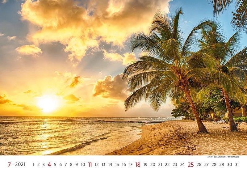Kalendarz ścienny wieloplanszowy Sea 2021 - lipiec 2021