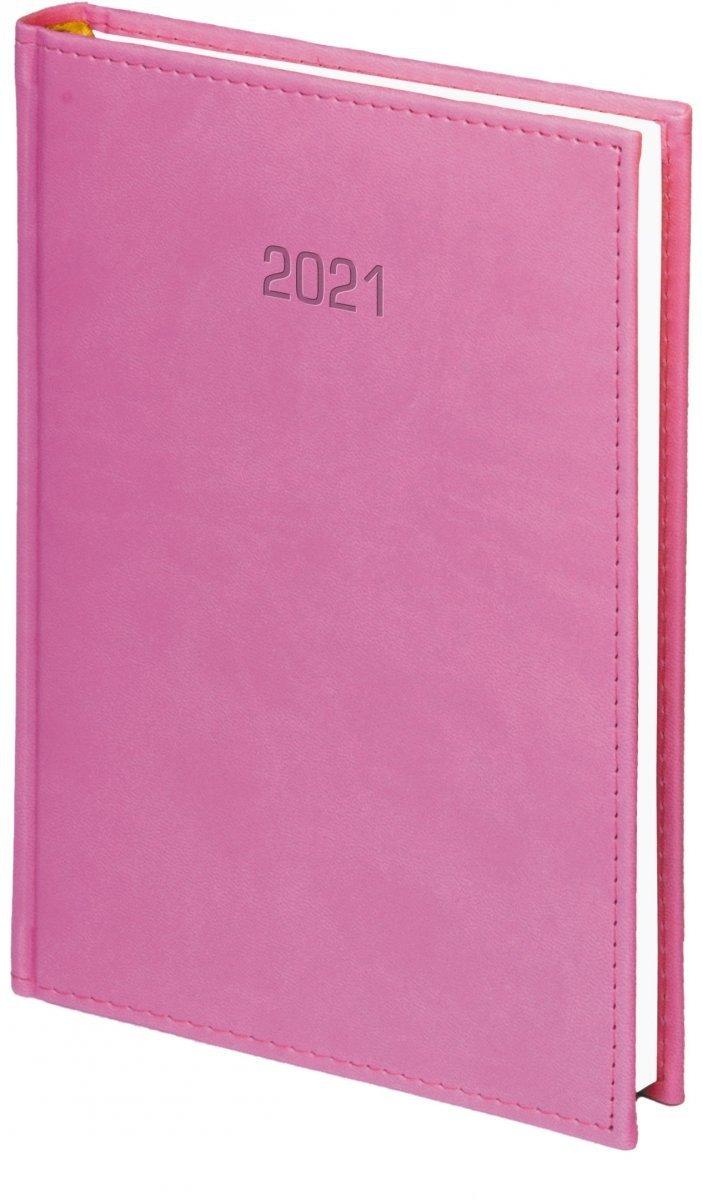 Kalendarz książkowy 2021 A4 dzienny oprawa VIVELLA EXCLUSIVE - różowa