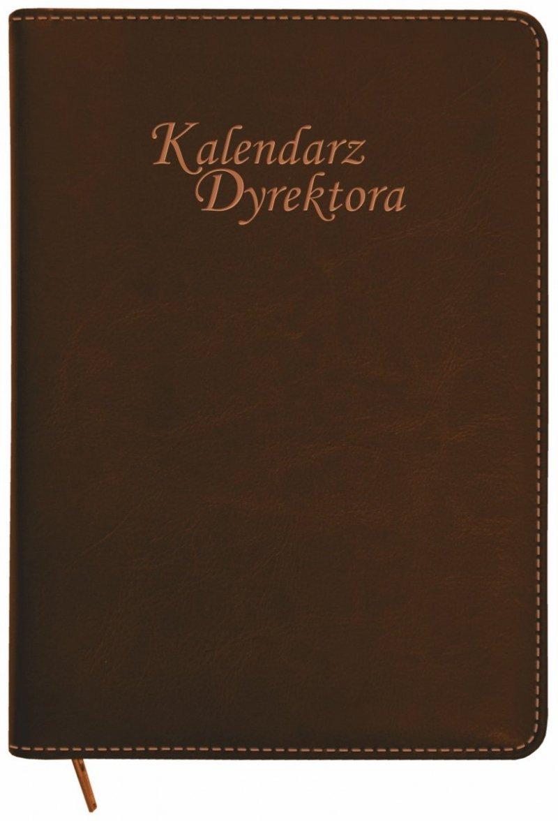 Kalendarz dyrektora oprawa ZIP w kolorze brązowym