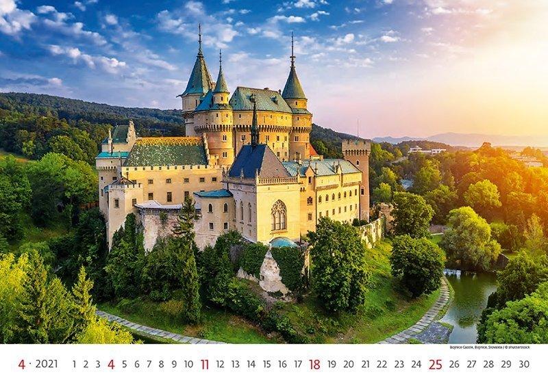 Kalendarz ścienny wieloplanszowy World Heritage 2021 - kwiecień 2021