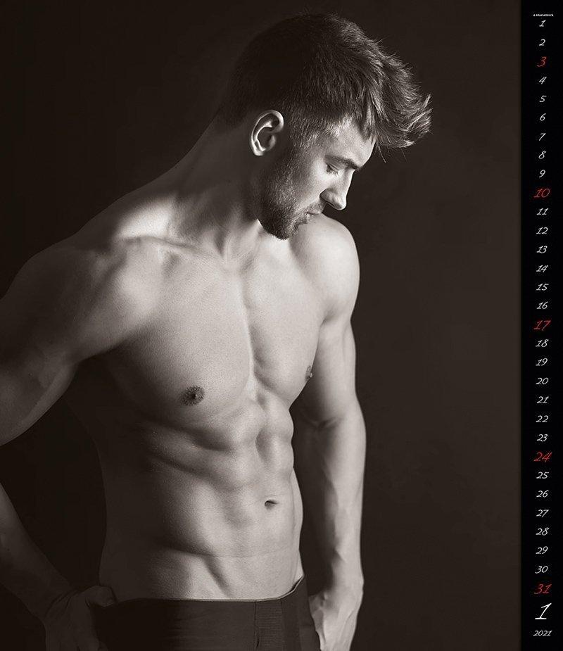 Kalendarz ścienny wieloplanszowy Men 2021 - exclusive edition - styczeń 2021