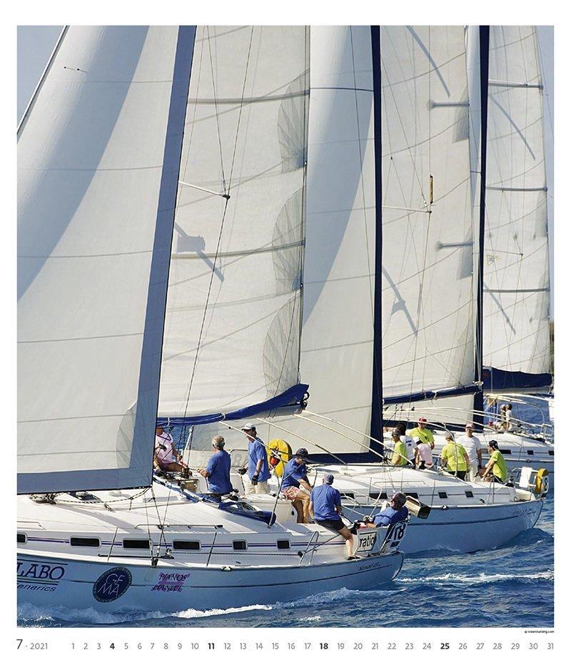 Kalendarz ścienny wieloplanszowy Sailing 2021 - exclusive edition - lipiec 2021